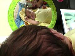 Baby mirror shot