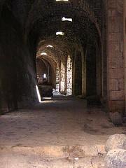 Through the entrances
