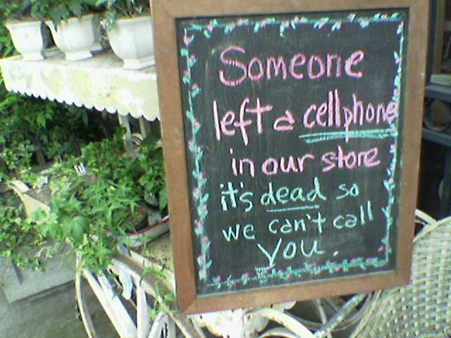 Lost Cell Phone Sign