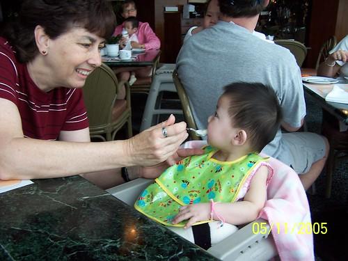Mei Mei likes grandma too!