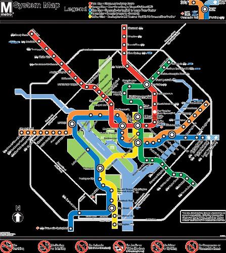 Wash Dc Metro Subway Map.Wmata Subway Map Washington Dc Richard Layman Flickr