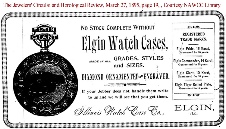 this 1895 elgin watch case ad