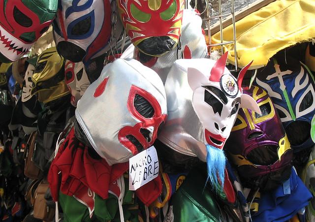 Olvera Street: Lucha Libre Masks