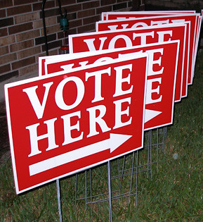 Vote Here | Signs used last election day. Don't forget to vo… | Flickr