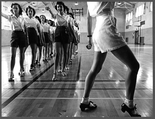 No Known Restrictions: Tap Dancing Class in Ames, Iowa by Jack Delano, 1942 (LOC) | by pingnews.com