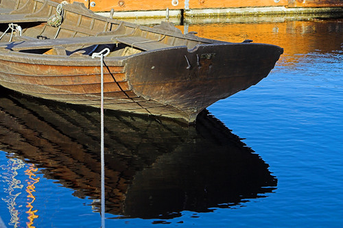 Wooden Boat Reflection | by Stephen P. Johnson
