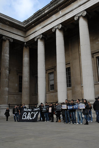 Protesting in front of the British Museum | by elginism