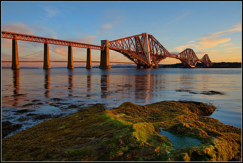 dawn scotland edinburgh predawn firth forthbridge forthroadbridge forthbridges forthrailbridge squeensferry impressedbeauty