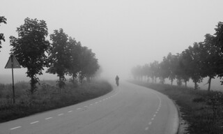Lonely cyclist   by (Erik)