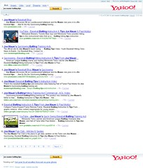 """Yahoo Search Results for """"joe mauer batting tips"""" on 10/02/07 