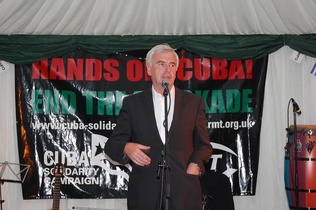 John McDonnell MP, RMT Garden Party for Cuba 2010