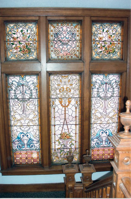 Buffalo NY ~ Eberhardt Mansion ~ Stain Glass on the Stair Landing ~ 1999