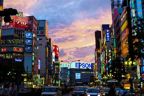 Sunset over Shinjuku | by Joi