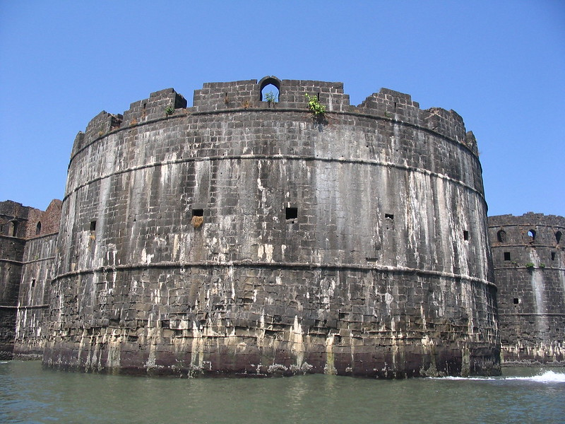 Rampart on Janjira Sea-fort