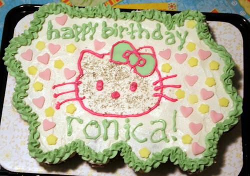 hello kitty cupcake cake | Cupcake cake for my niece's ...