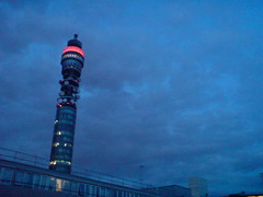 BT tower signalling to aliens   by russelldavies