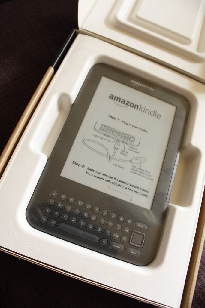Amazon Kindle | When I opened the package, the screen was al