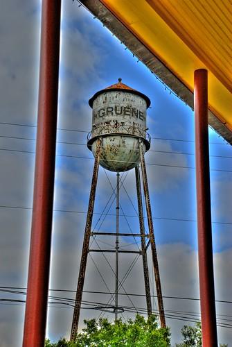 watertower hdr hdri gruene photomatix gruenetexas d80 hdrsingleraw gruenewatertower