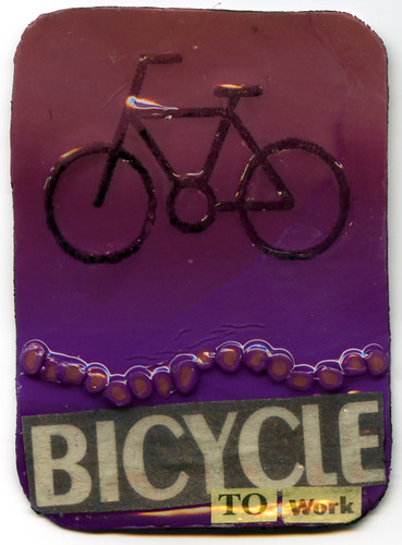 Bicycle to Work Artist Trading Card | by CraftyGoat