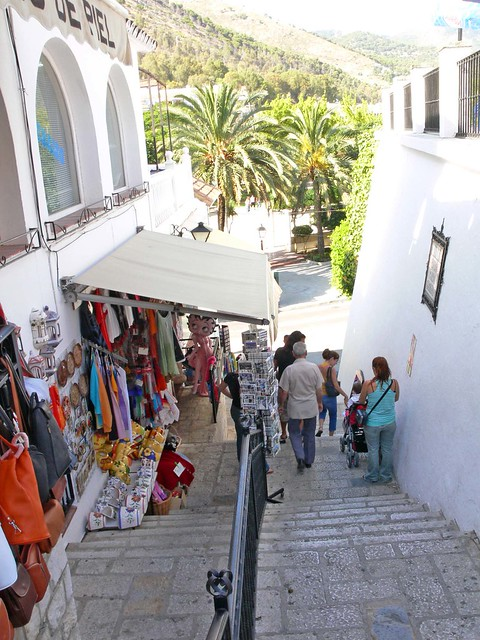 Shopping on the Steps in Mijas