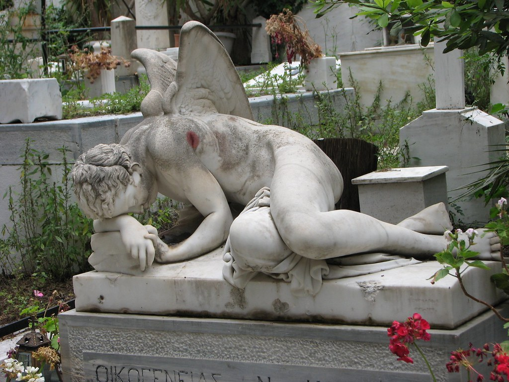 Angelfist angel - fist cemetery of athens, greece   photographed may 2