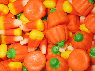 Candy corn and candy pumpkins closeup | by Juushika Redgrave
