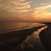 sunset from folly beach pier