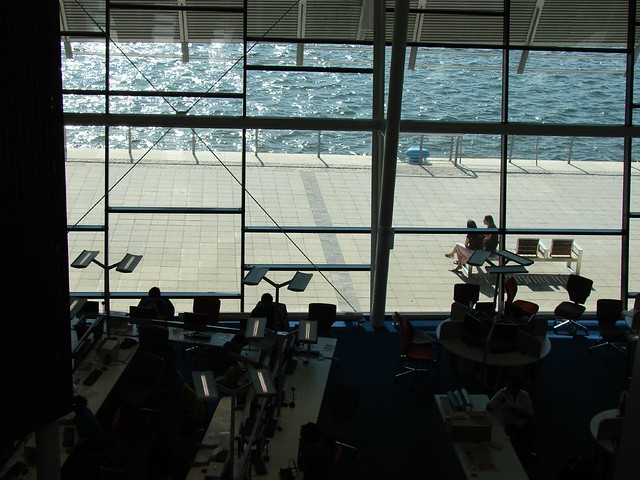 Windows, Library and Learning Centre, UEL   Large floor-to-c