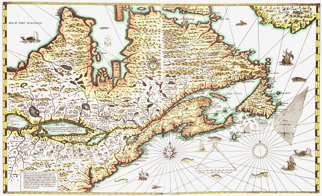 Carte De La Nouvelle France by Samuel de Champlain 1632 ... on samuel de champlain birth country, samuel de champlain route, samuel de champlain flag, samuel de champlain books, samuel de champlain education, samuel de champlain voyages,