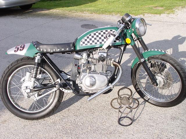vintage honda cb 200 t cafe bike   Richard Weslow   Flickr