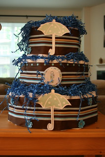 The Diaper Cake Traci made   by Mrs. Flinger