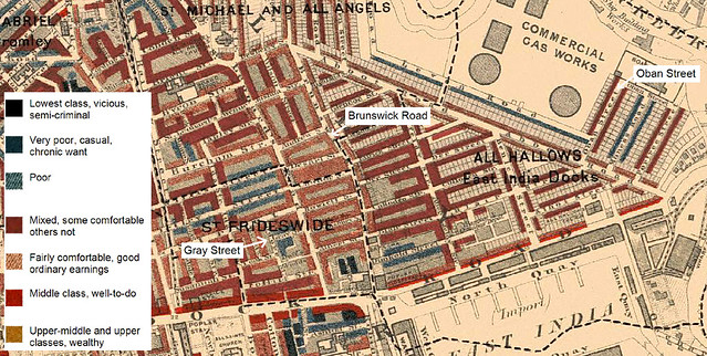 Charles Booth Map Charles Booth Poverty Map of Bow, London 1898 1899 | Flickr