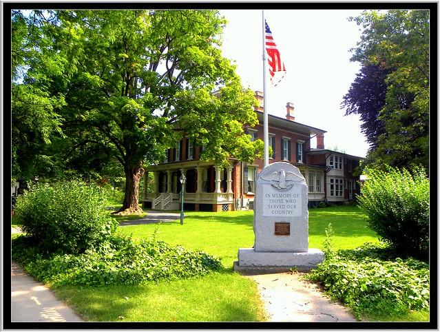 Brockport NY ~ Morgan-Manning House ~  War Memorial