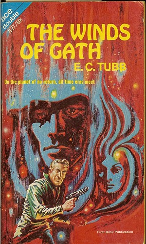 Dumarest Saga Book 1 - The Winds of Gath - E.C. Tubb - cover artist Kelly Freas - 1st edition 1st publication