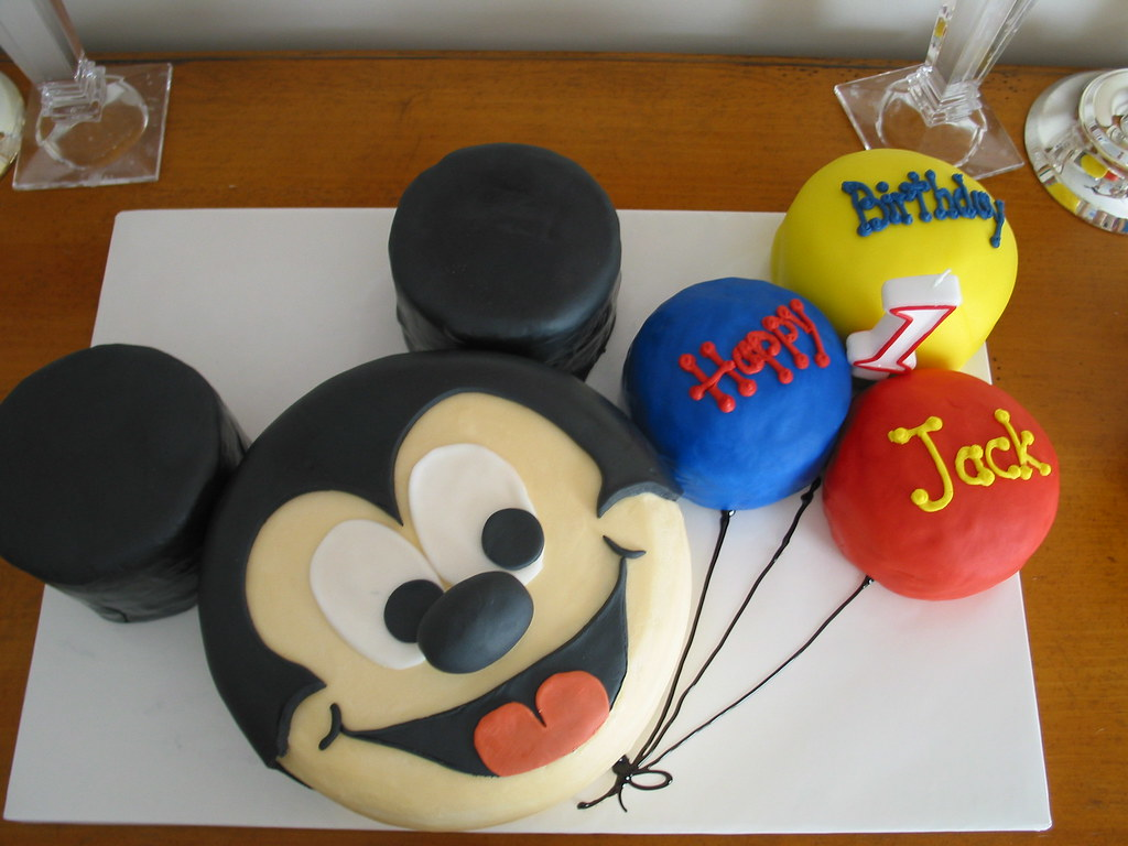 Phenomenal Jack 1St Bday Birthday Mickey Mouse Cake Mickey Mouse Cake Flickr Personalised Birthday Cards Veneteletsinfo