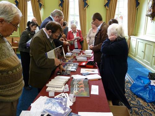 The Bookstall doing a Brisk Trade