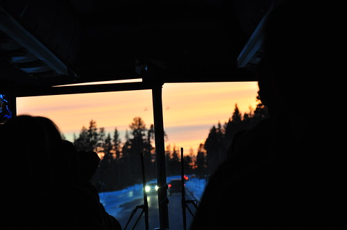 california sunset sky ski bus evening bay jackson area powpow backofthebus eyefi bayareaskibus backodabus