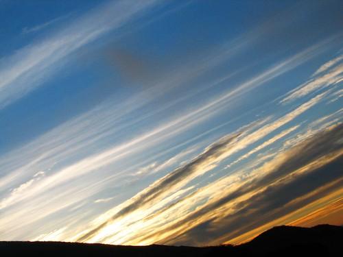 above ca blue sky orange black color northerncalifornia june yellow night clouds america sunrise dawn highway hills sanfranciscobayarea eastbay expressway californian 2007 580 metroplex urbanarea palomareshills