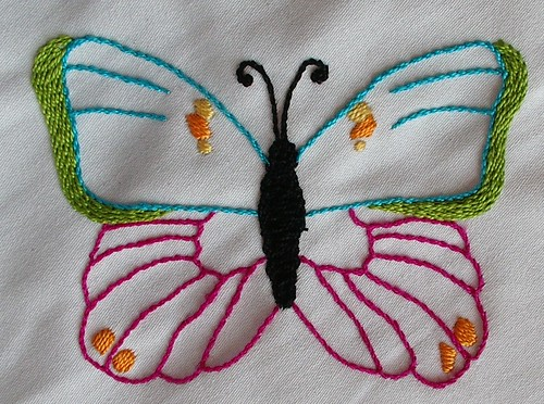 1st finished butterfly for curtain | by sunshine's creations
