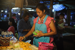 Night Market Pastry Seller | by goingslowly
