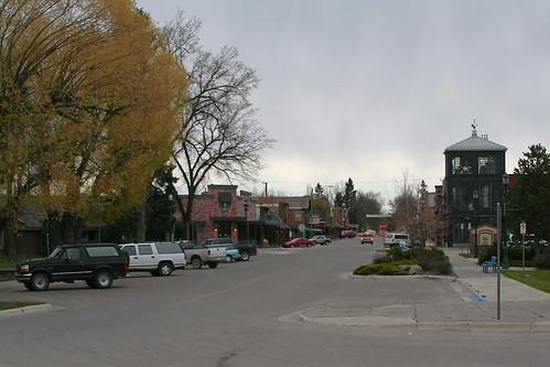 road montana downtown streetscene whitefish amtraktrip