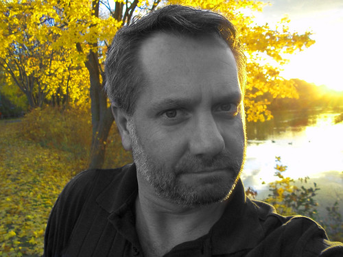 autumn gay portrait selfportrait man fall leaves yellow sunny 365project davidsullivan davidnewengland