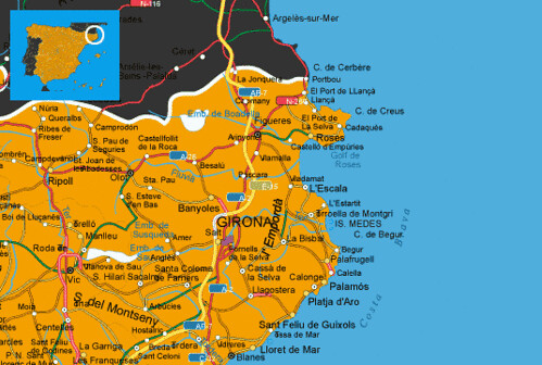 Map Of Spain Showing Costas.Maps Spain Costa Brava Costa Brava Spanish Coast Map Flickr