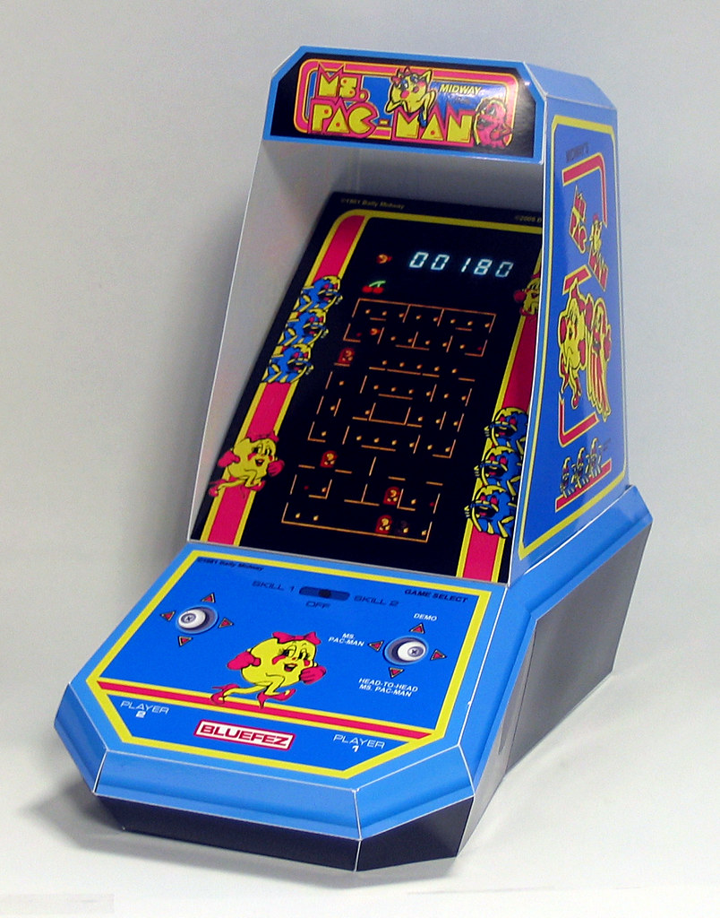 Coleco Ms  Pac-Man hand held game paper model | After 2 week… | Flickr