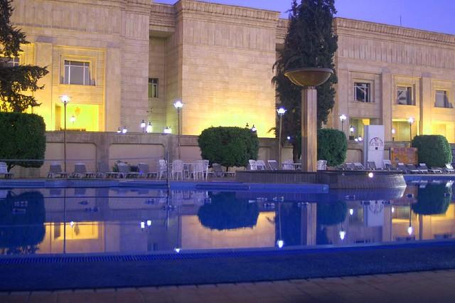 US Embassy Baghdad Iraq | Swimming pool at dawn at Saddam Hu