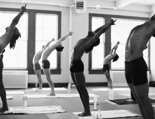 bikram yoga  half moon pose  dietnesstea  flickr