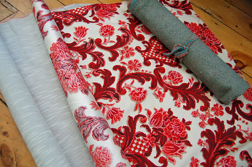 vintage upholstry fabric   by SouleMama
