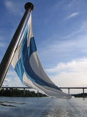 Finnish flag / Boat ride back from Vyborg | by daneen_vol