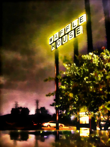 Waffle House: My Beacon in the Night. (watercolor treatment) | by RichTatum