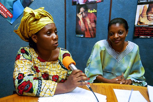 Women from Conakry at local radio station in Côte d'Ivoire | by World Bank Photo Collection